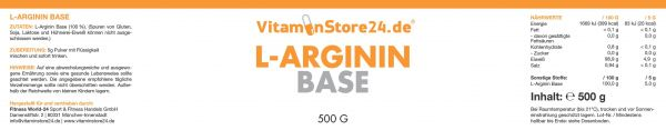 VitaminStore24 L-Arginin Base