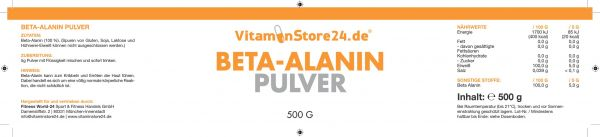 VitaminStore24 Beta Alanin