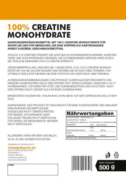 VitaminStore24 100% Creatine Monohydrate
