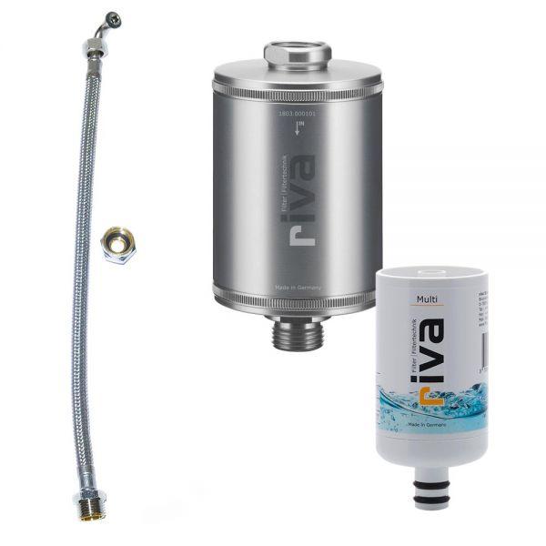 rivaALVA Trinkwasserfilter Multi inkl. flexiblem Schlauchanschluss-Set