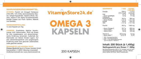 VitaminStore24 Omega 3