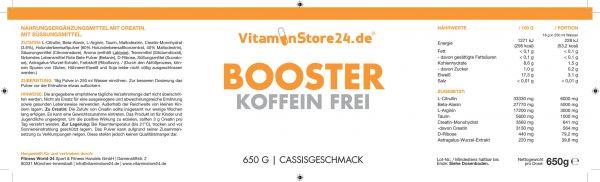 VitaminStore24 Booster Koffein Frei