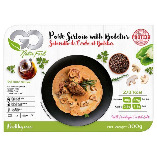 Go Natur Food - Schweinefilet mit Champignons und Steinpilzen