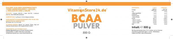 VitaminStore24 BCAA Pulver