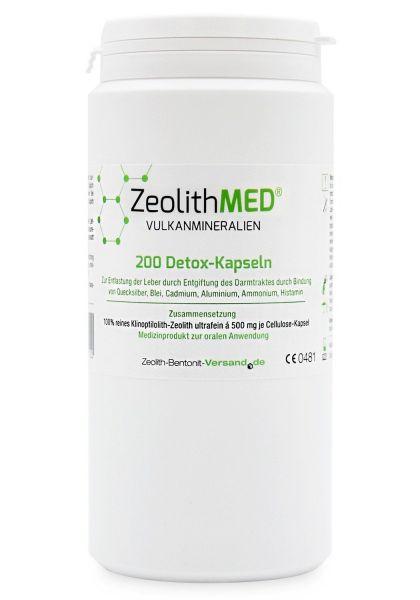 Zeolith MED® 200 Detox-Kapseln