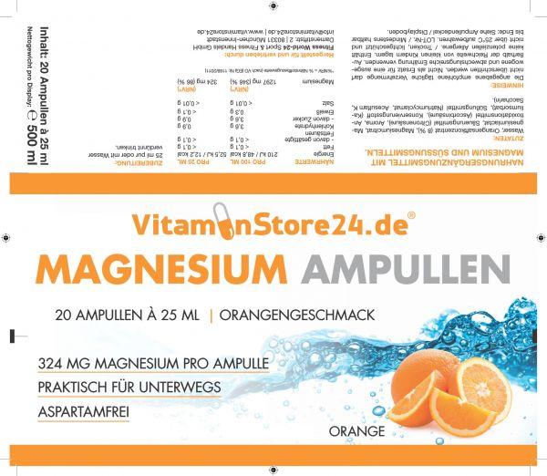 VitaminStore24 Magnesium Ampulle