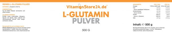 VitaminStore24 L-Glutamin