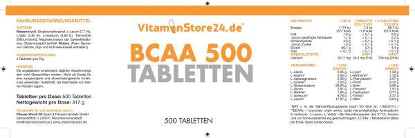 VitaminStore24 BCAA 500